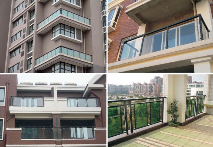 铝合金玻璃阳台护栏
