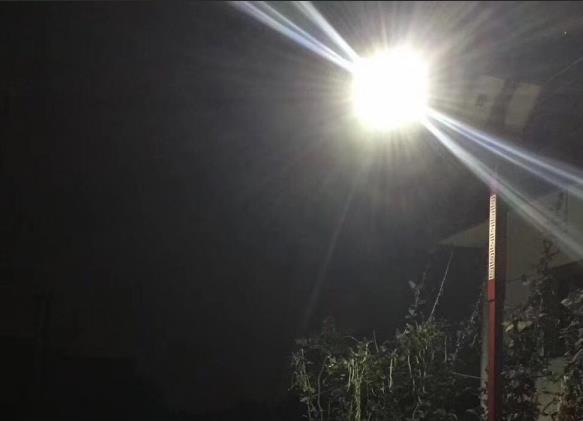 为宝鸡市陈仓区某村提供陕西太阳能路灯安装