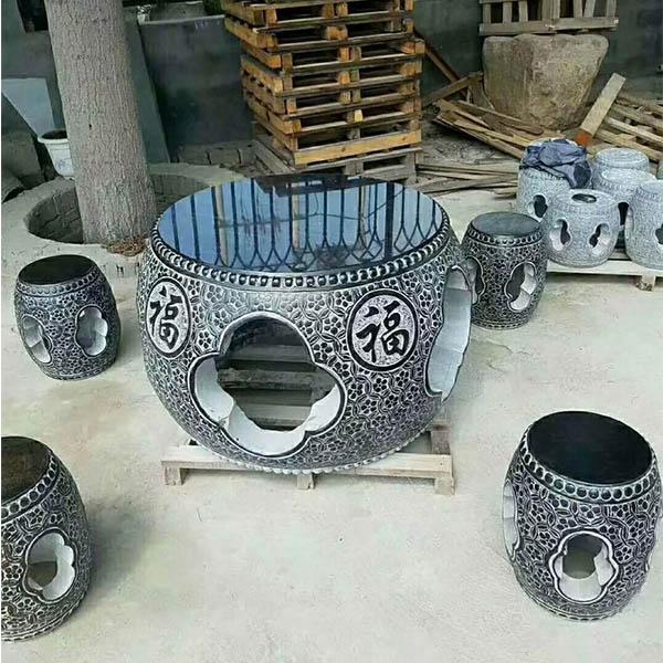陕西石桌凳雕刻