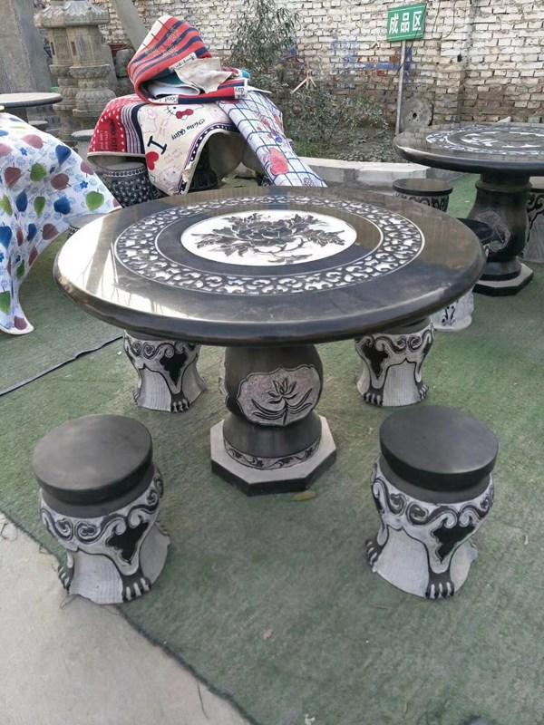 西安石桌凳设计