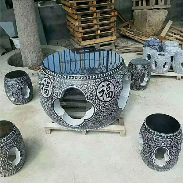 中式园林庭院常见的石桌凳赏析