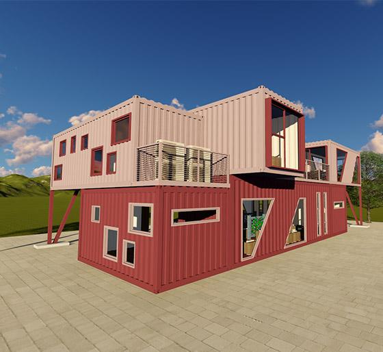 咖啡厅模块化建筑设计