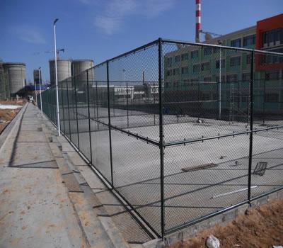 某学校球场护栏网安装案例