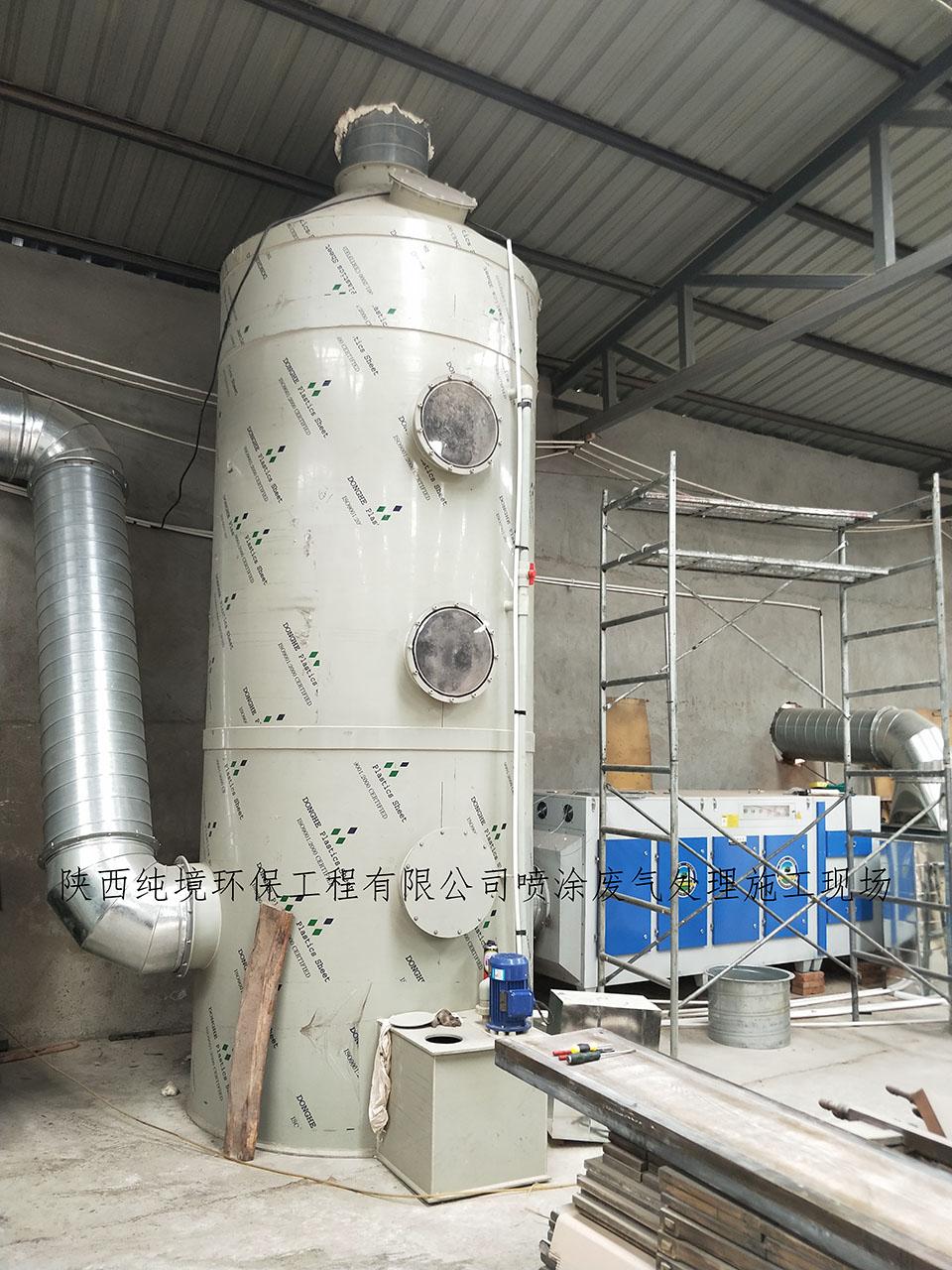 陝西某海遊藝有限公司噴塗車間廢氣處理案例