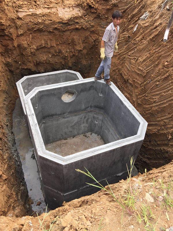 陕西五建集团高新区西北电子厂临建化粪池施工案例