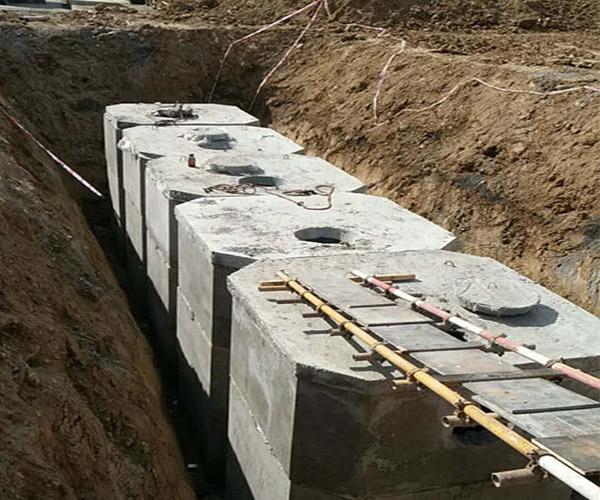 陕西建工安装集团高新区纳米科技化粪池施工案例