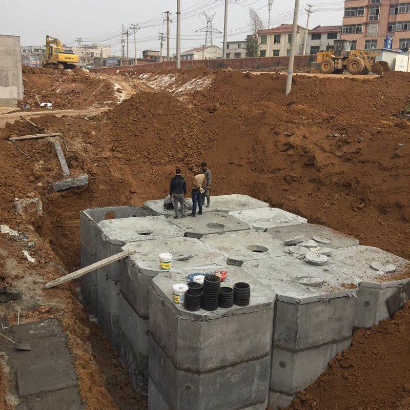 中铝国际九冶集团安康高新花园社区化粪池施工案例