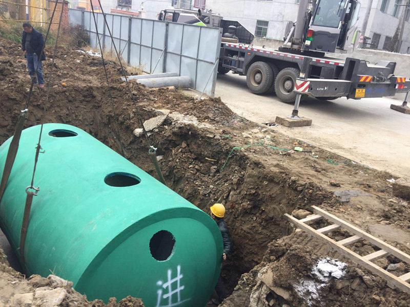 商砼一体式化粪池施工