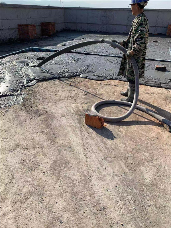 安康高新科技开发区西北电厂发泡混凝土施工现场