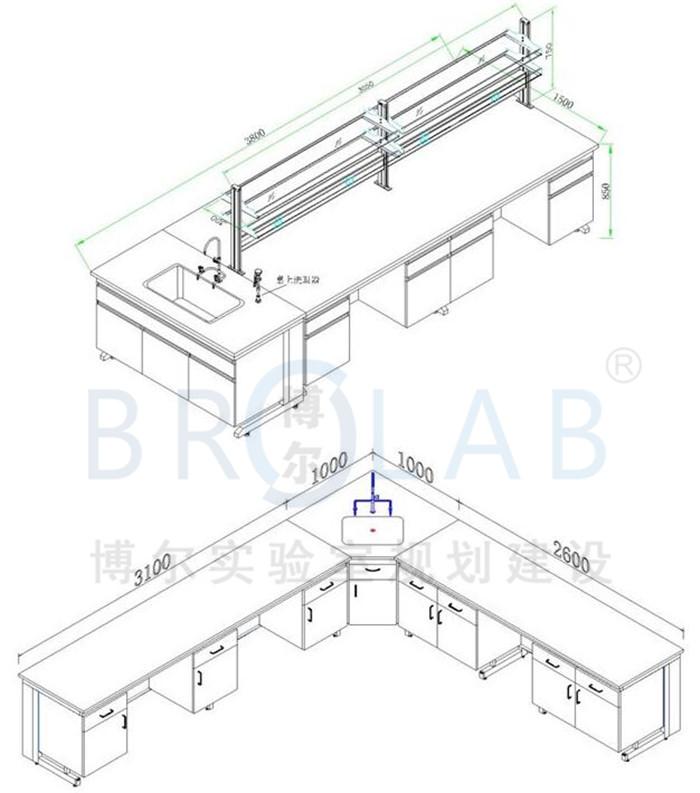 实验室实验台尺寸定制