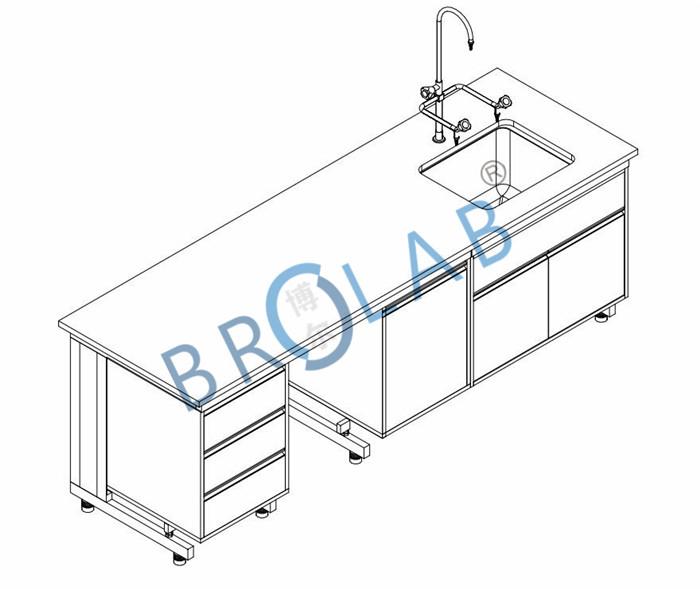 实验室水槽边台设计效果图