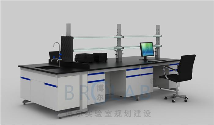 理化板实验台带试剂架水槽