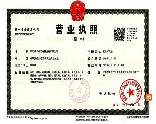 四川始丰成套电器设备有限公司营业执照