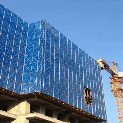 某综合市场建筑工地使用我司爬架网片展示