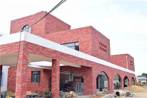 华容中心幼儿园 柔性饰面砖劈开砖案例