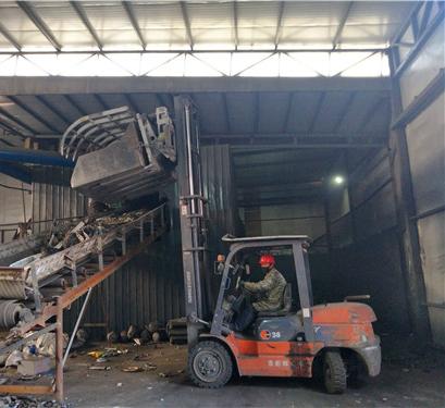 废钢回收集中处理