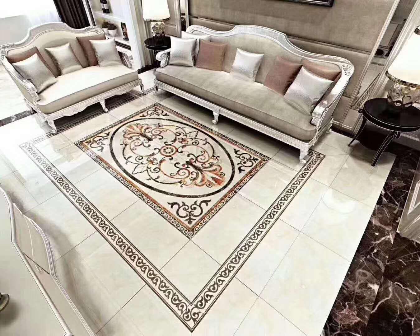 白银客厅地毯背景墙