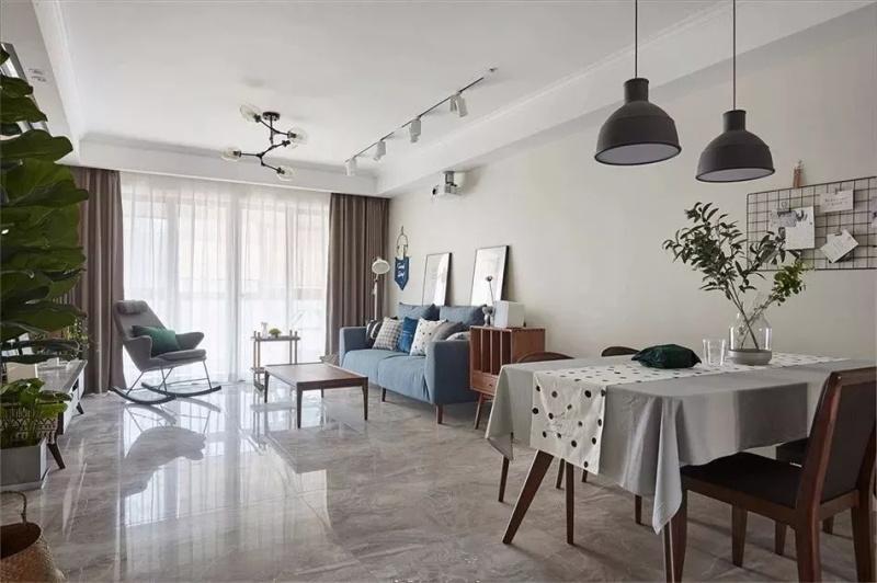 客厅铺地砖,耐脏耐用又耐看!