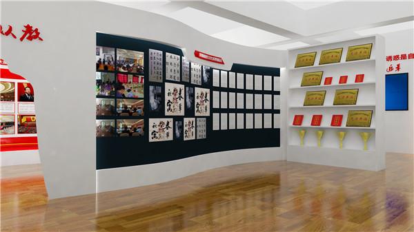 陕西展厅设计-鄠邑南关中学校史馆
