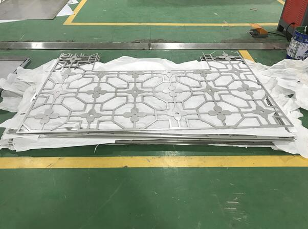 重庆不锈钢加工——5mm不锈钢屏风