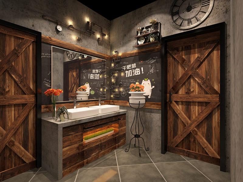 乾县餐厅洗手间装修设计
