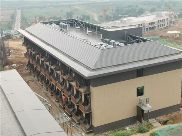 渭华干部学院1#宿舍楼采用陕西扣叠金属屋墙系统