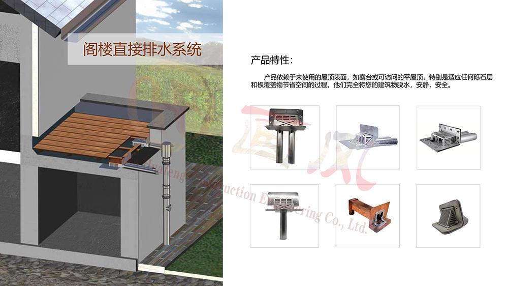 阁楼直接排水系统
