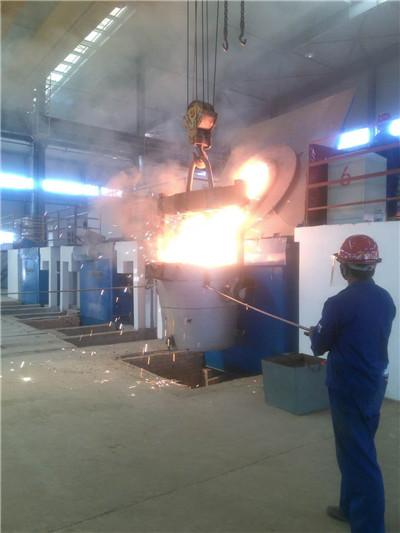熔炼炉车间施工现场