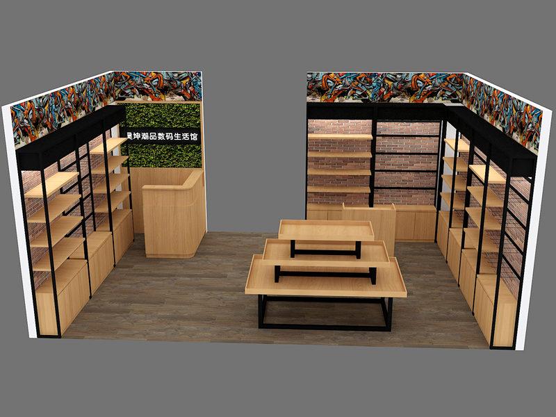昊坤潮品數碼生活館烤漆展櫃展示