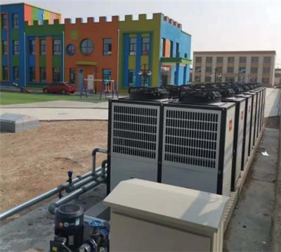 宽口井移民村小学20台空气能热泵安装