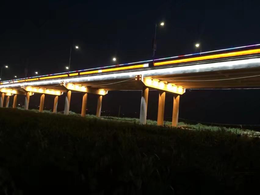 渭河桥体亮化工程