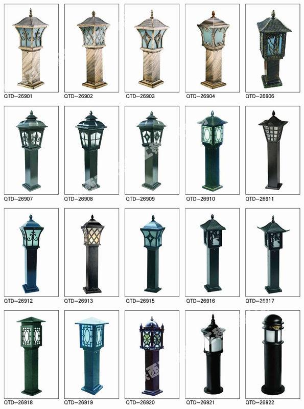 AG入口照明柱頭燈安裝
