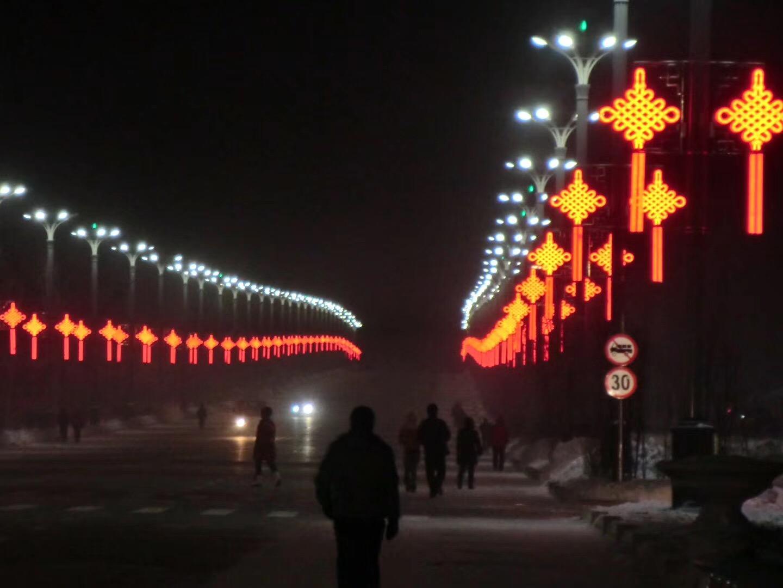 LED中国结施工