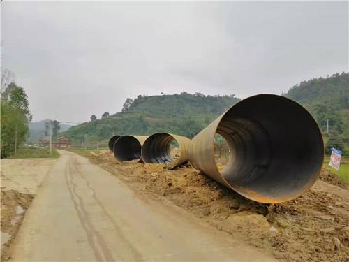 四川螺旋钢管出厂案例