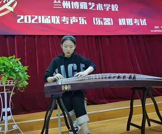 古筝学生-毛玥,甘肃音乐联考中单科古筝分数达到了182.38分的高成绩