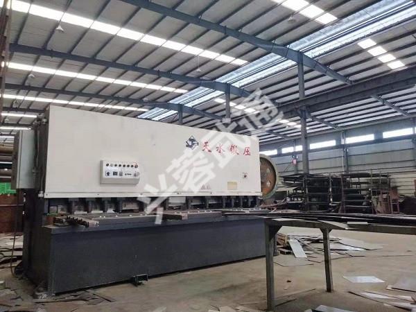 兴蓉武通环保设备公司剪板机展示