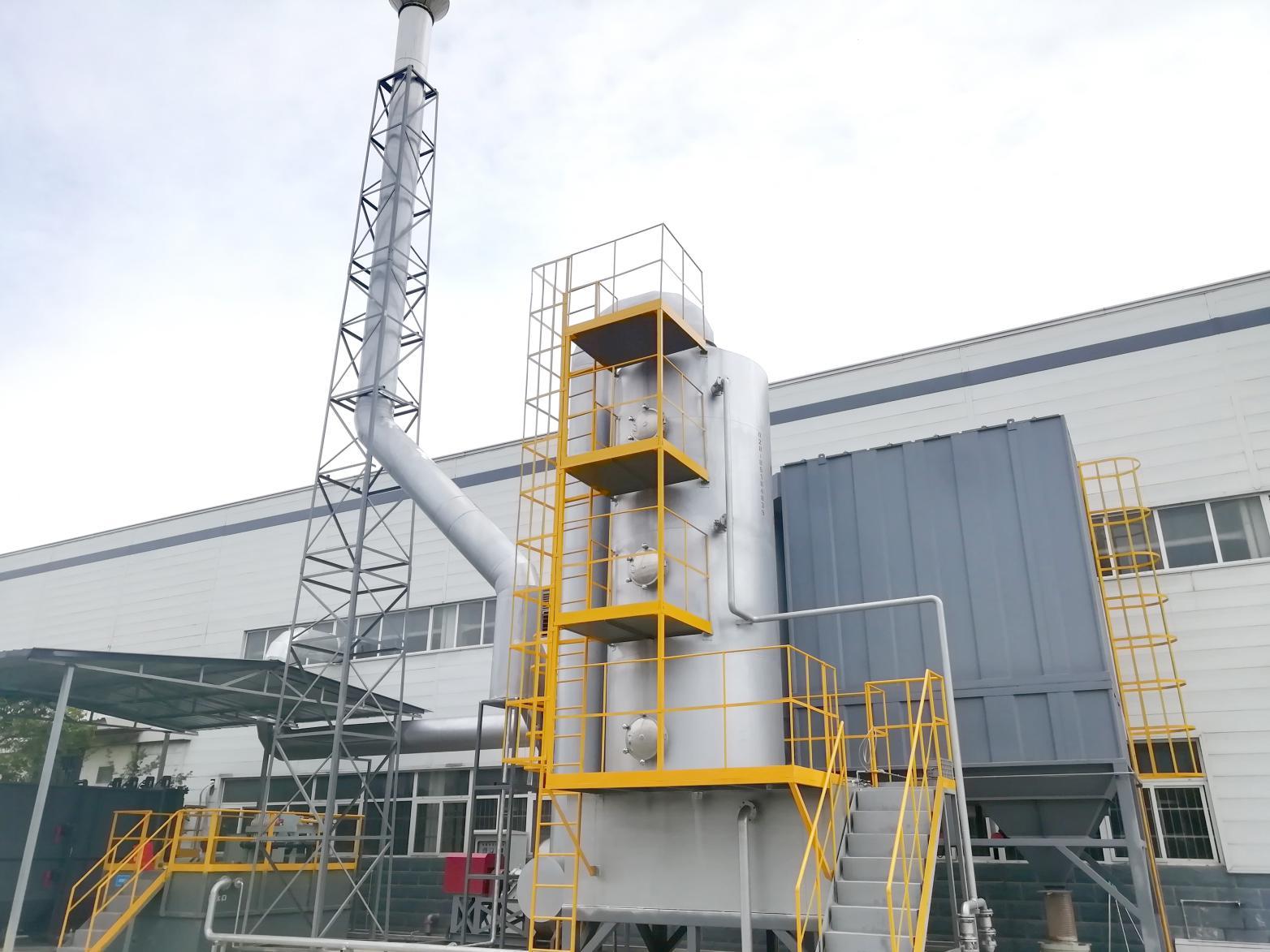 玻璃窑炉生产线废气净化系统