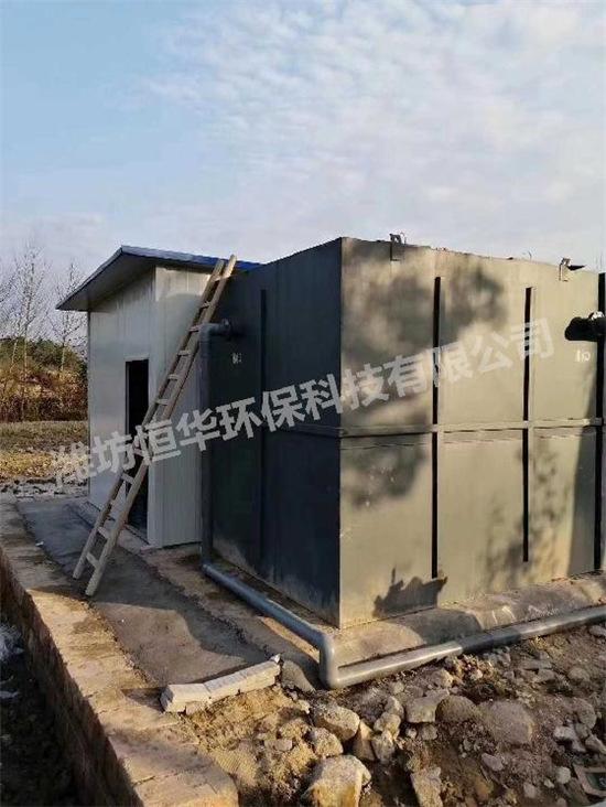 2019年1月贵州一体化污水设备安装完成