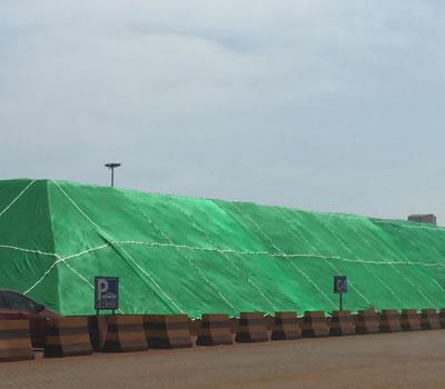 河北某公司使用柔性防尘网案例