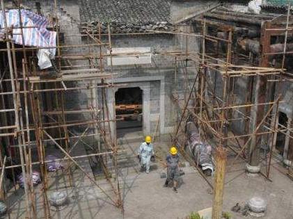 进口直臂式登高作业车助力重庆建筑修缮