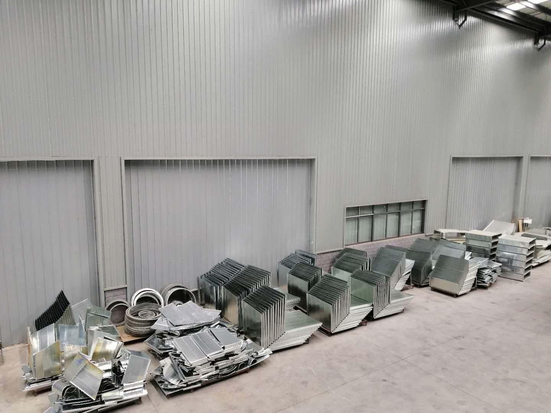 不锈钢风管制作材料堆放区域
