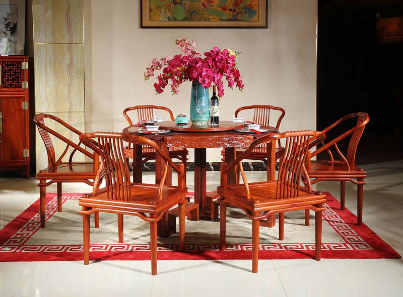 大果紫檀新中式圆餐桌