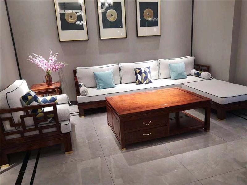 冈比亚刺猬紫檀贵妃沙发五件套
