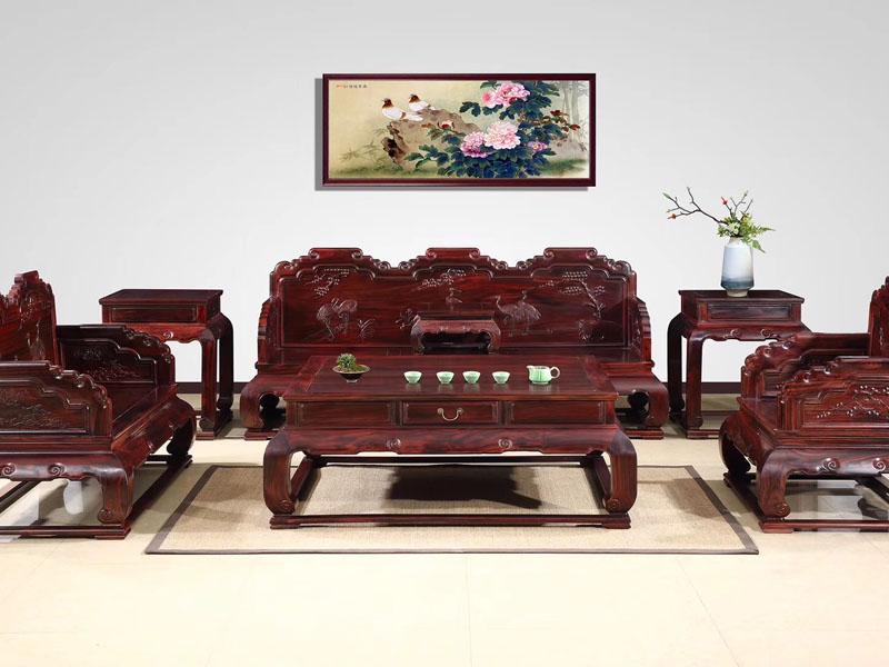 西安红木市场新古典酸枝木家具