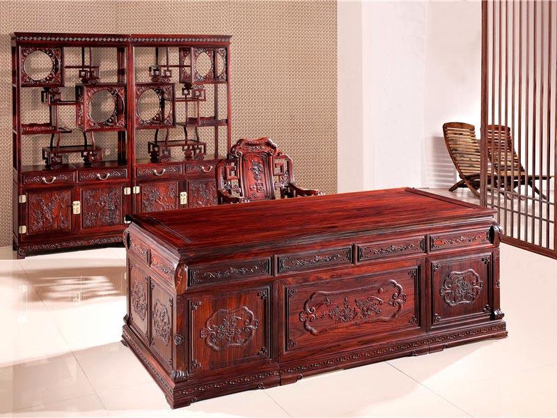 红木办公家具书桌蜀国组合特价红木家具