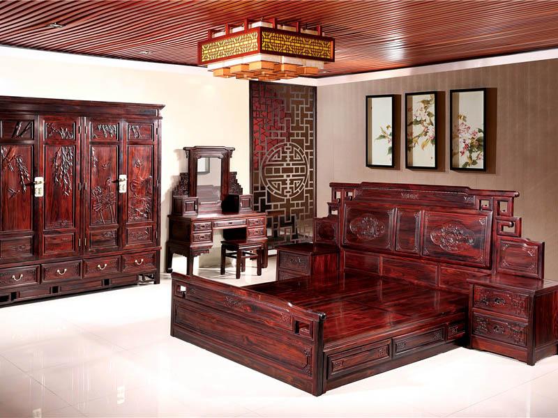 古典红木家具黑酸枝卧房家具