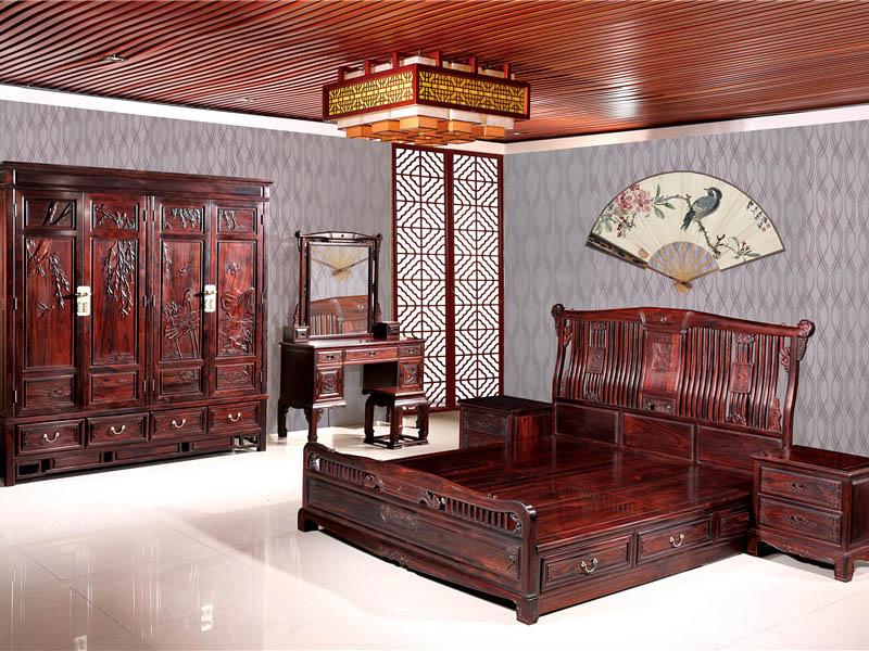 黑酸枝古典红木家具卧室家具全套