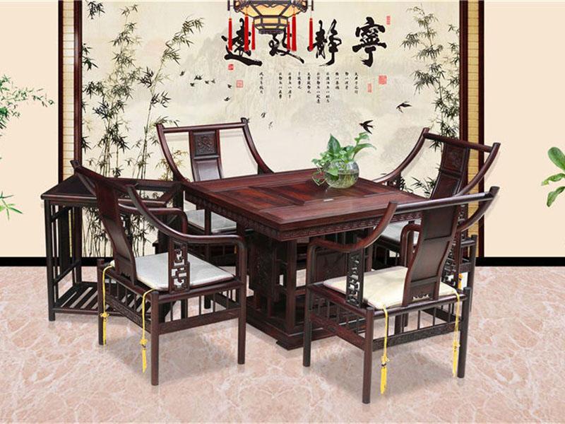 红酸枝茶桌高端红木家具