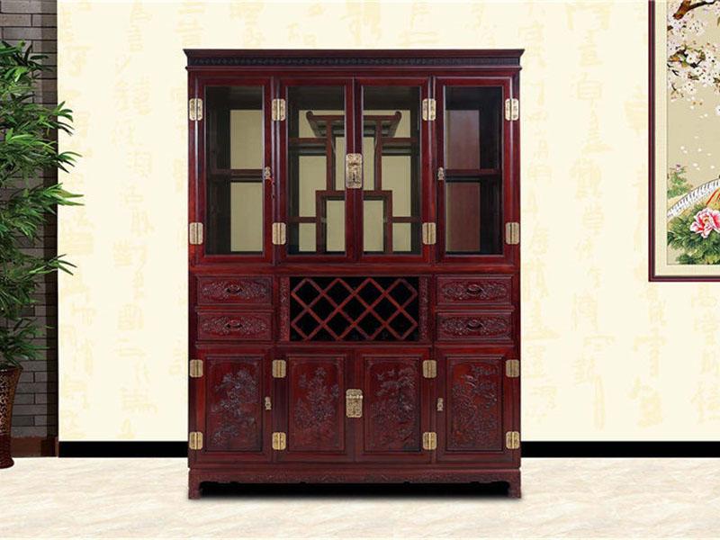 红酸枝酒柜餐厅红木家具