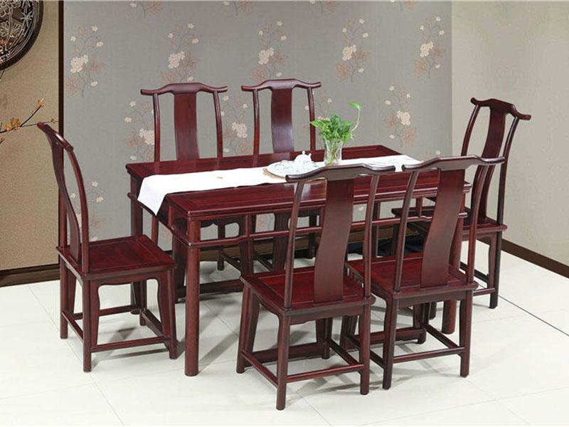 明式红酸枝家具花枝方餐桌